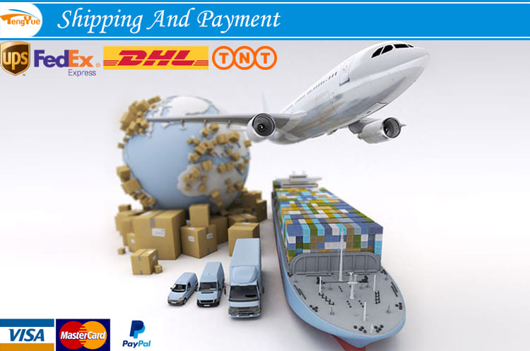 shipping and payment for printing packaging