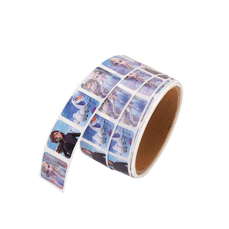 Customize Wholesale Printed FrozenAnime Character Roll Paper Stickers